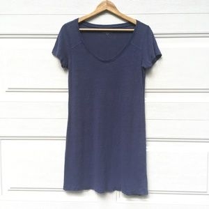 Eileen Fisher T-Shirt Dress Blue Petite Linen Top
